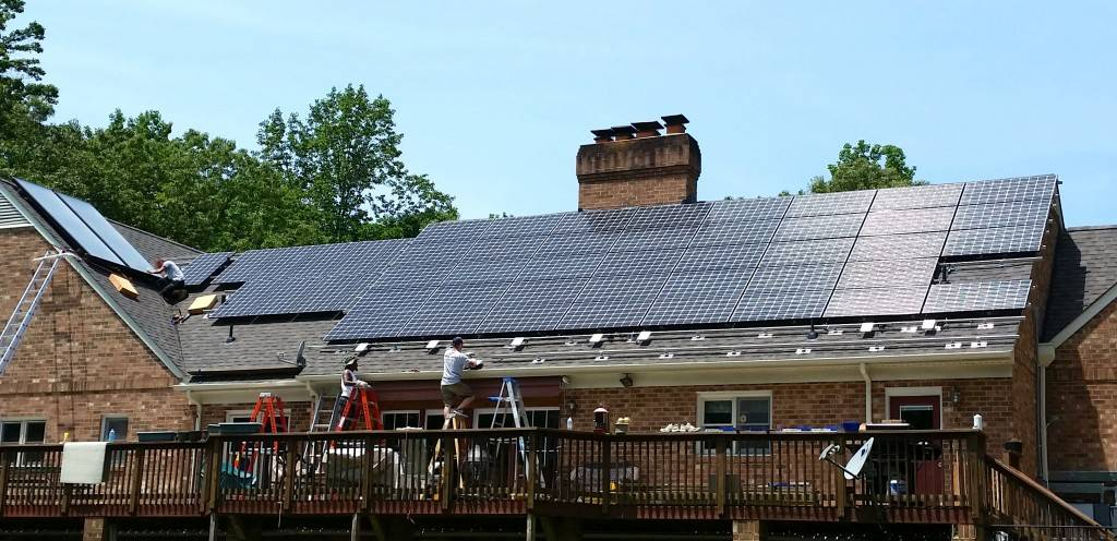 Our latest Solar Panel install in progress, Mechanicsville, Virginia