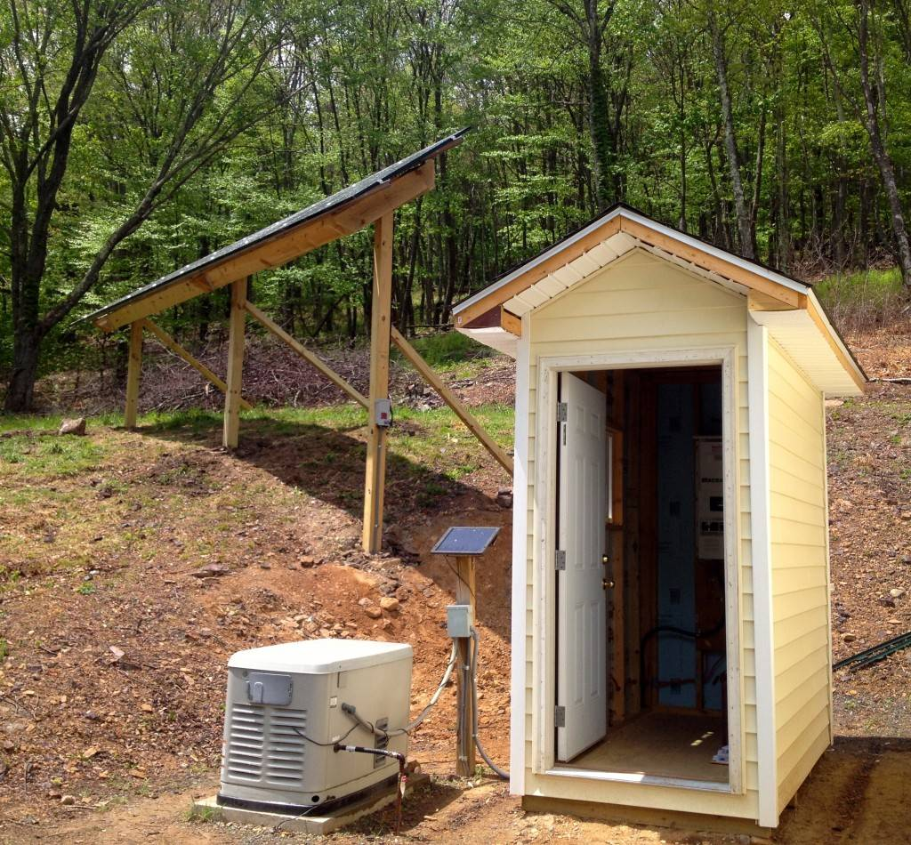 Solar Panel & Battery Bank for Off Grid Home in Highland, Virginia