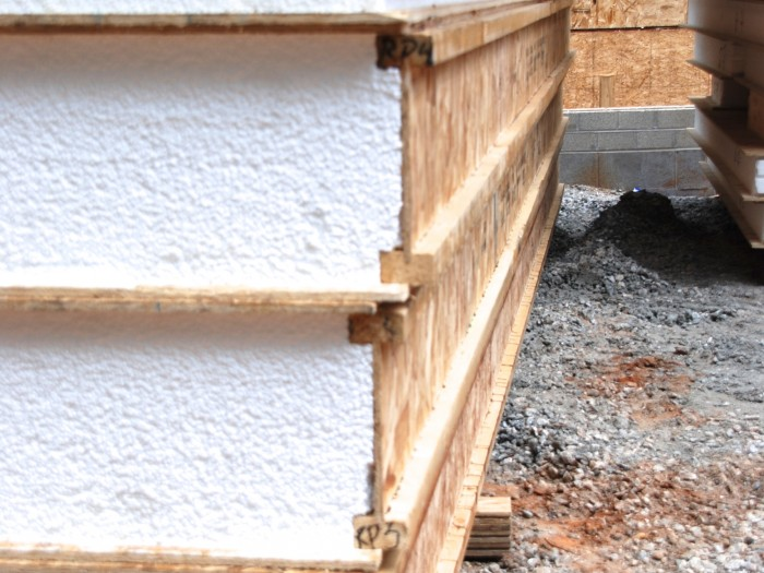 superb structurally insulated panel #10: Structural Insulated Panels, or SIPs, consist of a thick foam core  sandwiched between two sheets of oriented strand board, or OSB.