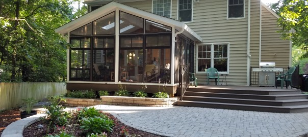 Custom sunroom addition by Old Dominion Innovations
